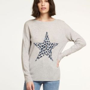 Autumn Cashmere Leopard Star Cashmere Sweater